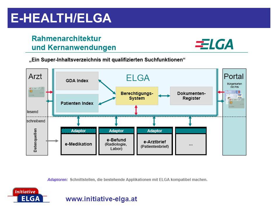 www.initiative-elga.at ELGA Definition der ARGE-ELGA: E-HEALTH/ELGA