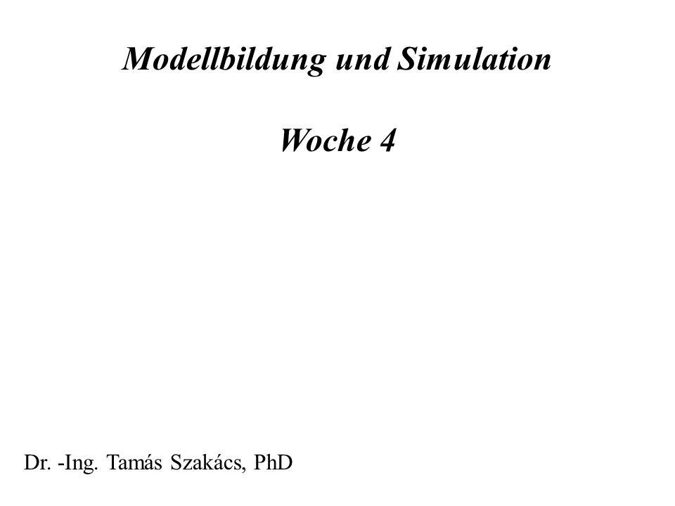 Modellbildung und Simulation Woche 4 Dr. -Ing. Tamás Szakács, PhD