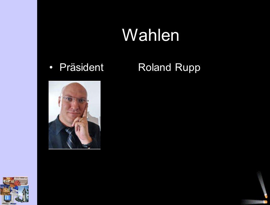Wahlen PräsidentRoland Rupp