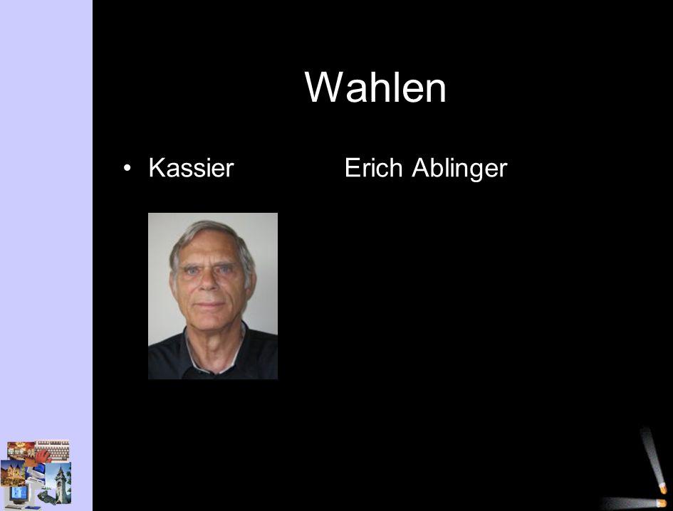 Wahlen KassierErich Ablinger