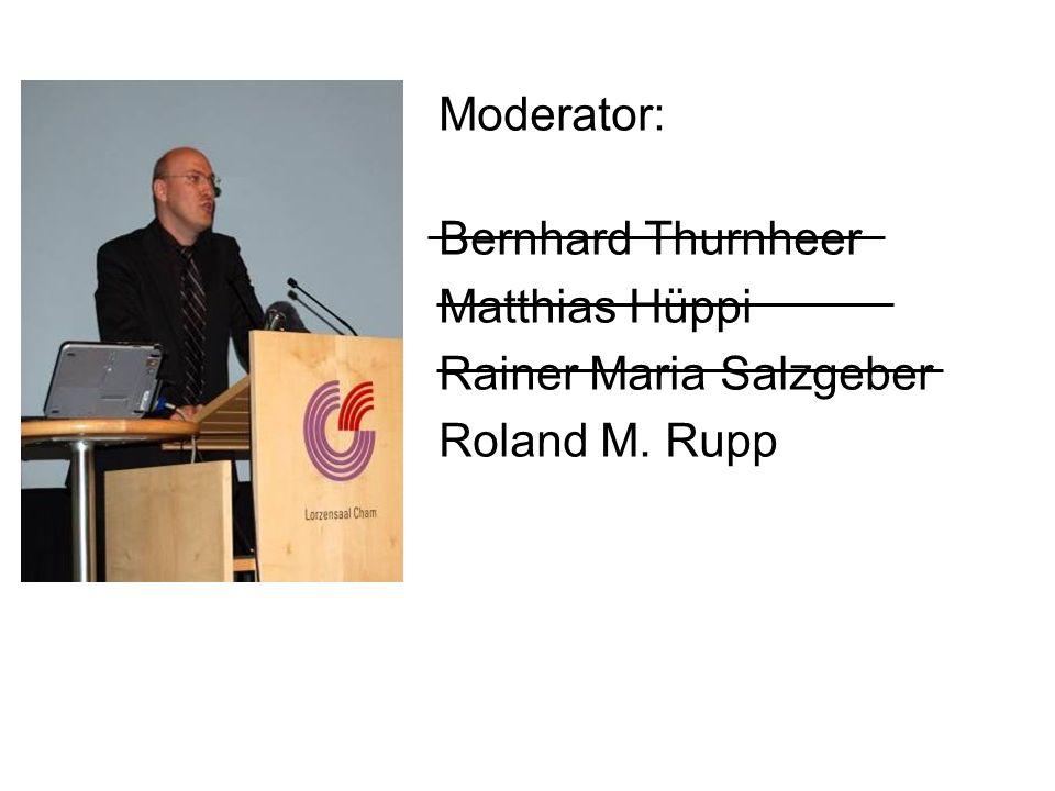 Moderator: Bernhard Thurnheer Matthias Hüppi Rainer Maria Salzgeber Roland M. Rupp