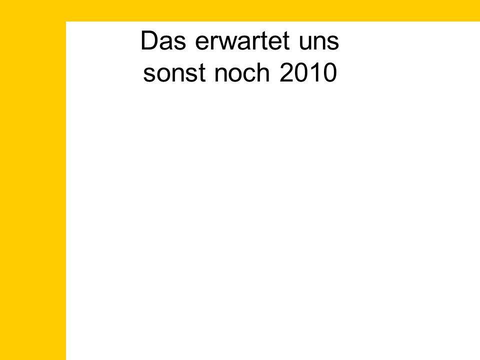 Das erwartet uns sonst noch 2010