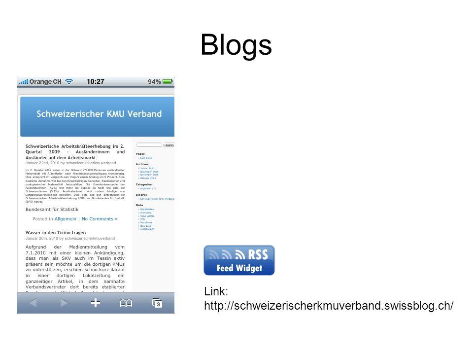 Blogs Link: http://schweizerischerkmuverband.swissblog.ch/