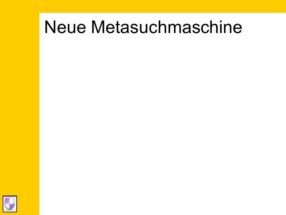Neue Metasuchmaschine