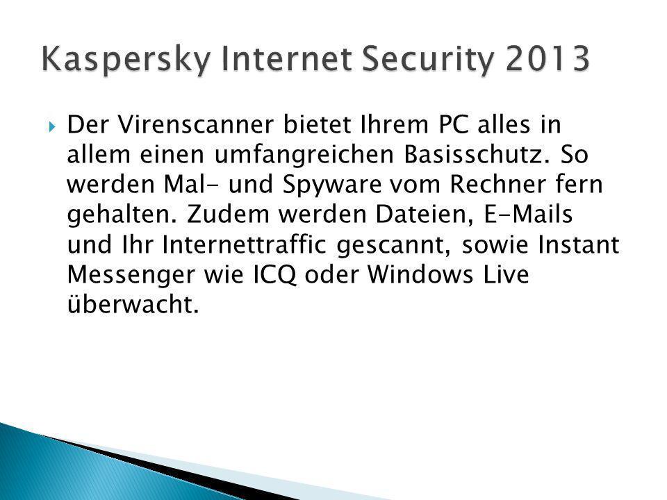Der Virenscanner bietet Ihrem PC alles in allem einen umfangreichen Basisschutz.