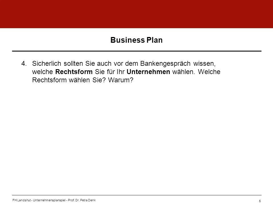 FH-Landshut - Grundlagen der BWL - Prof.Dr. Petra Denk Funktionale Organisation vs.
