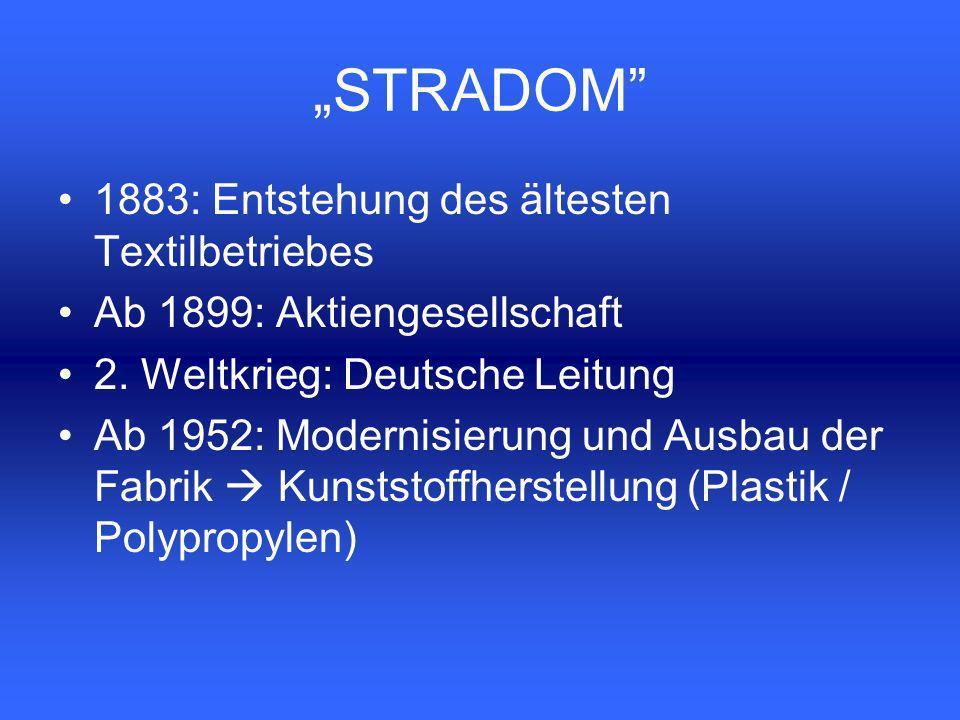 1883: Entstehung des ältesten Textilbetriebes Ab 1899: Aktiengesellschaft 2.