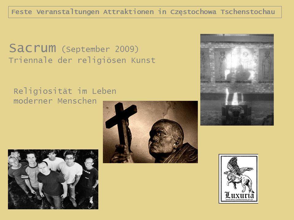 Sacrum (September 2009) Triennale der religiösen Kunst Religiosität im Leben moderner Menschen