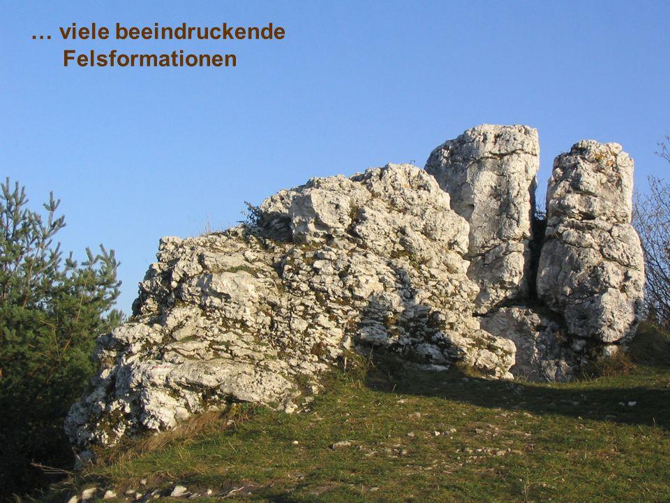 … viele beeindruckende Felsformationen