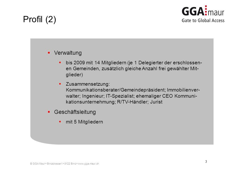 © GGA Maur Binzstrasse 1 8122 Binz www.gga-maur.ch 3 Verwaltung bis 2009 mit 14 Mitgliedern (je 1 Delegierter der erschlossen- en Gemeinden, zusätzlic