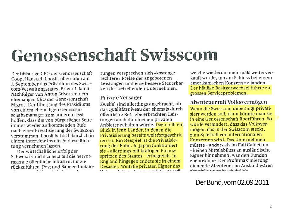 2 Der Bund, vom 02.09.2011
