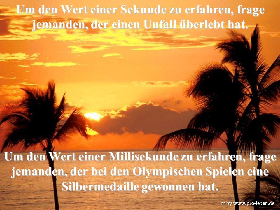 © by www.pro-leben.de Die Zeit wartet auf niemanden.