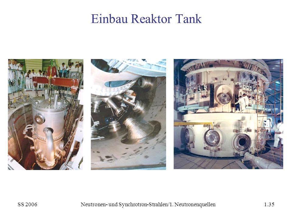 SS 2006Neutronen- und Synchrotron-Strahlen/1. Neutronenquellen1.35 Einbau Reaktor Tank