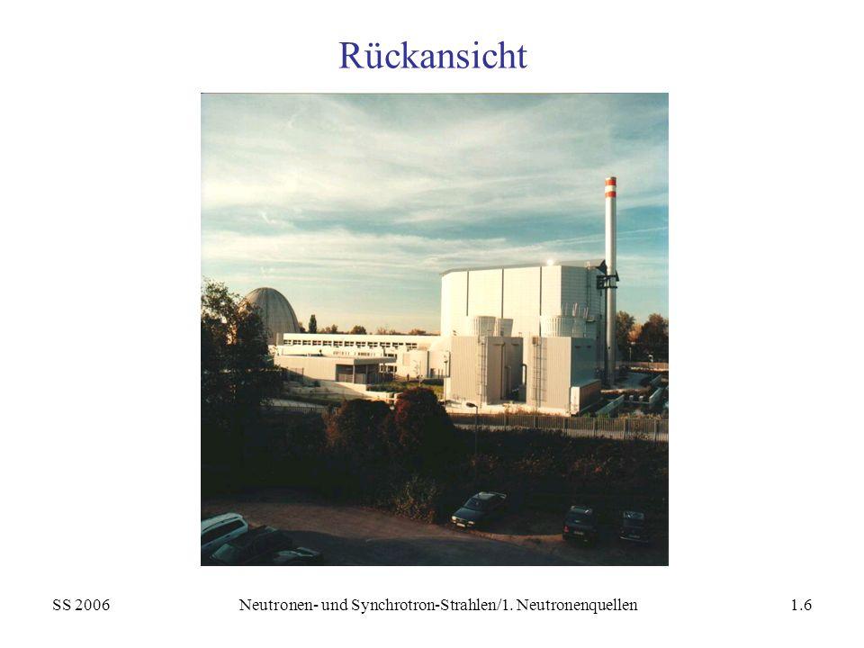 SS 2006Neutronen- und Synchrotron-Strahlen/1. Neutronenquellen1.6 Rückansicht