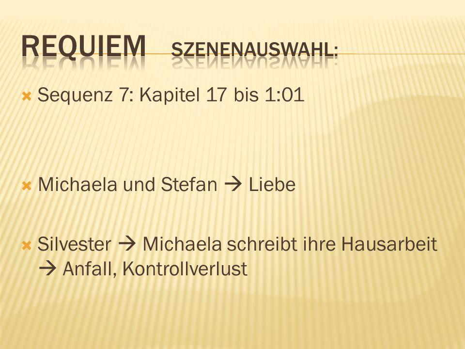 Sequenz 7: Kapitel 17 bis 1:01 Michaela und Stefan Liebe Silvester Michaela schreibt ihre Hausarbeit Anfall, Kontrollverlust