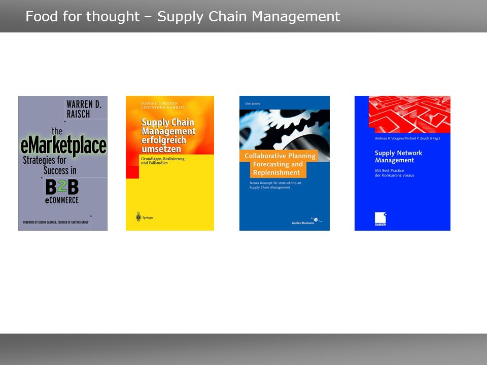 Food for thought – Supply Chain Management