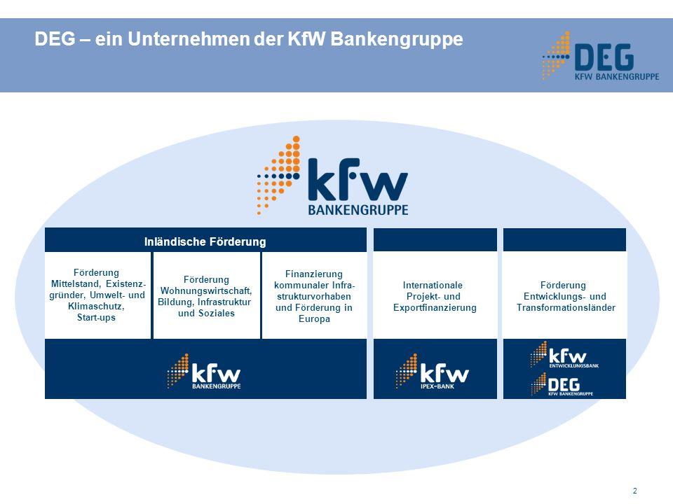 13 Langfristige Darlehen VertragspartnerUnternehmen im DEG-Partnerland Finanzierungsvolumenbis EUR 25 Mio (äquivalent in USD oder verschiedenen Lokalwährungen) bei Neuinvestitionen bis zu rd.