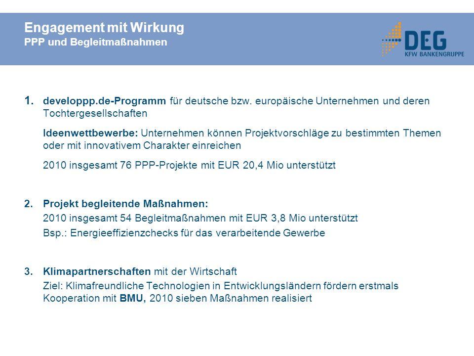 Engagement mit Wirkung PPP und Begleitmaßnahmen 1.