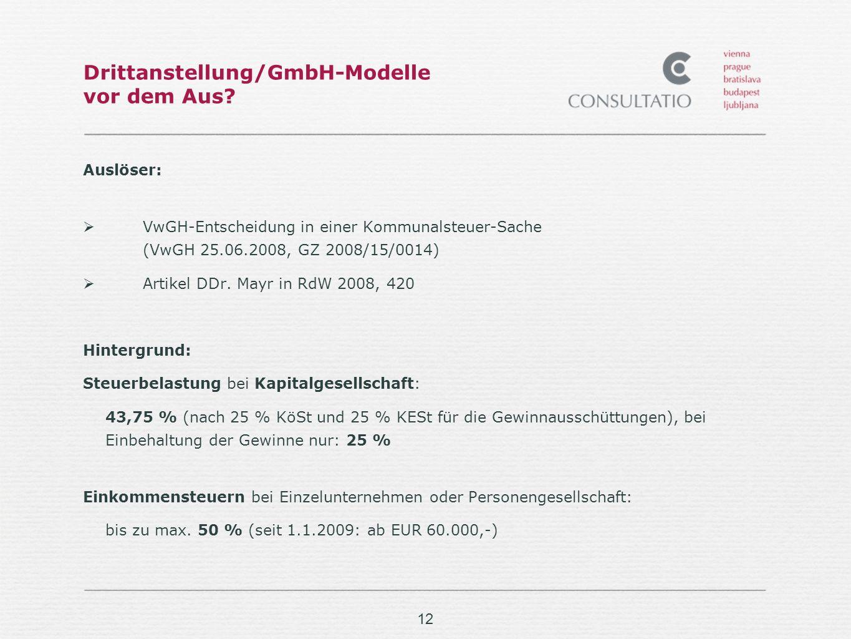 12 Drittanstellung/GmbH-Modelle vor dem Aus.