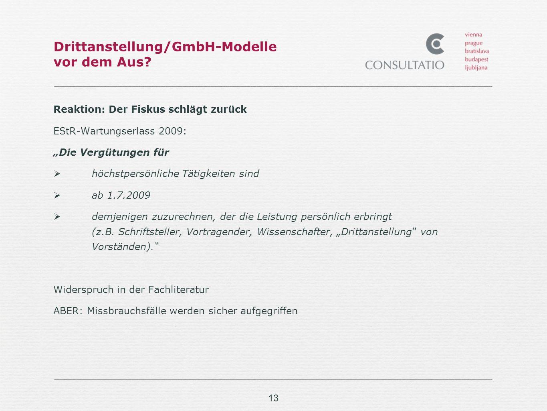 13 Drittanstellung/GmbH-Modelle vor dem Aus.