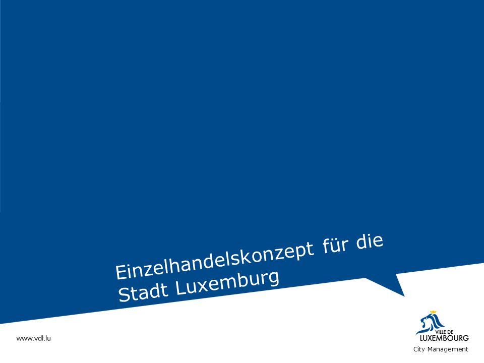 Einzelhandelskonzept für die Stadt Luxemburg City Management