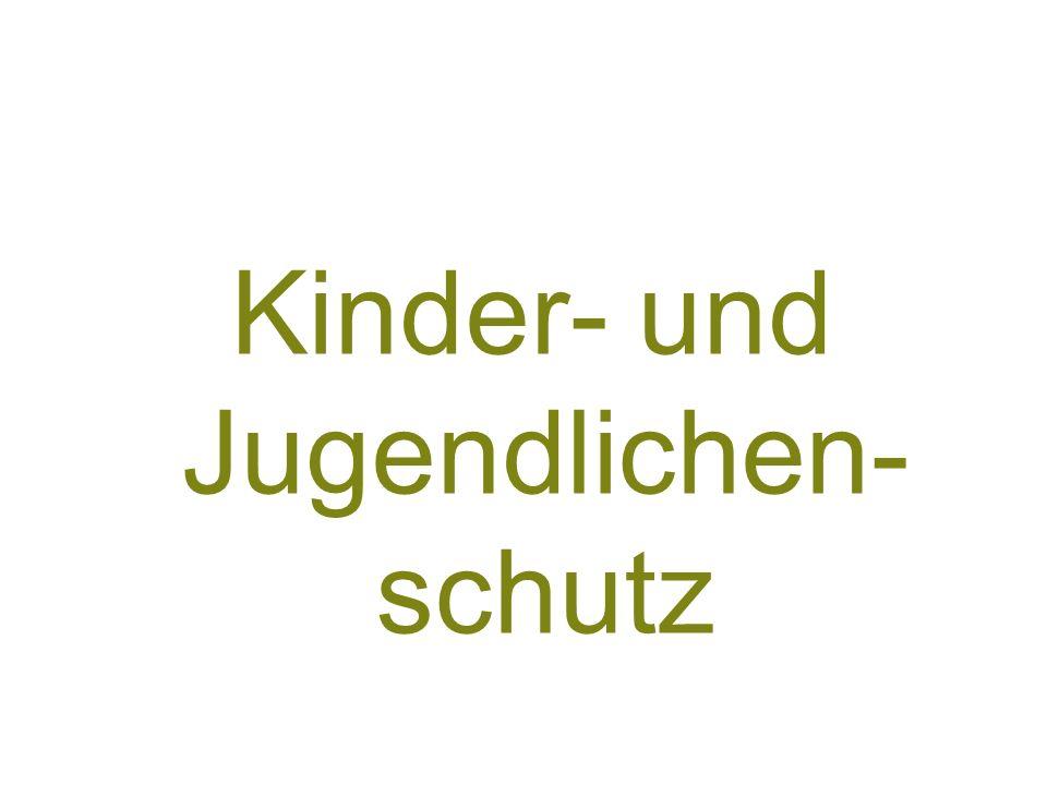 13 Kinder- und Jugendlichen- schutz