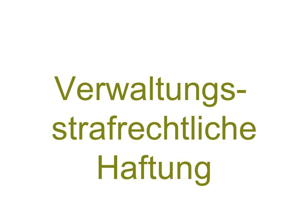 81 Verwaltungs- strafrechtliche Haftung