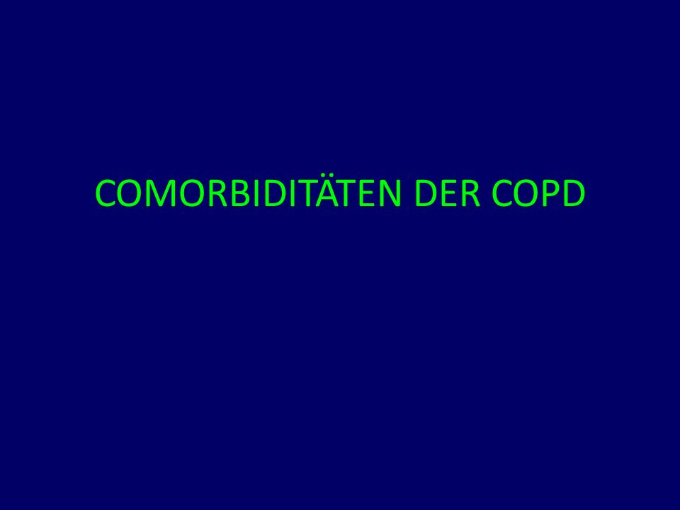 COMORBIDITÄTEN DER COPD