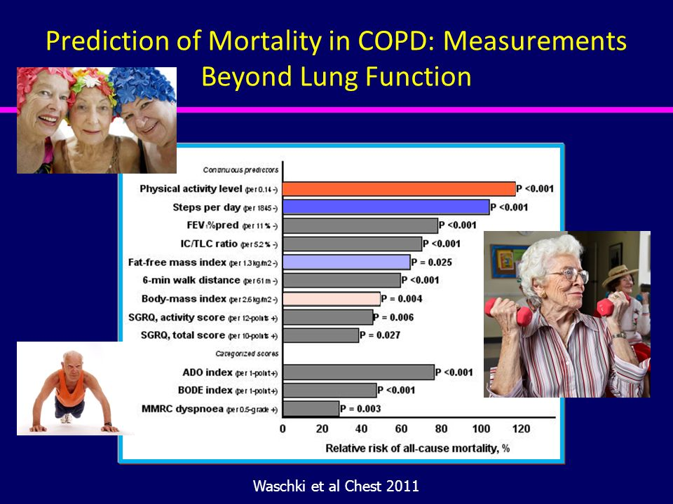 Prediction of Mortality in COPD: Measurements Beyond Lung Function Waschki et al Chest 2011