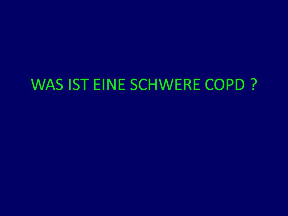 WAS IST EINE SCHWERE COPD ?
