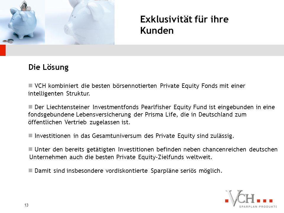 12 Zahlreiche Hürden für Privatanleger Bei GESCHLOSSENEN Fonds ergeben sich viele Nachteile: Sehr hohe Investionssummen. Da es sich hier in der Regel