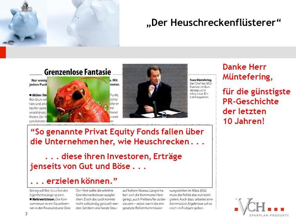 13 Die Lösung VCH kombiniert die besten börsennotierten Private Equity Fonds mit einer intelligenten Struktur.