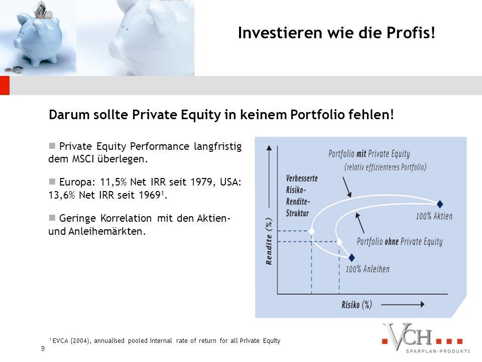 8 Prozentuale Verteilung der Investoren Quelle: EVCA / Thomson Venture Economics / PricewaterhouseCoopers Welches Interesse haben die Investoren von PE?
