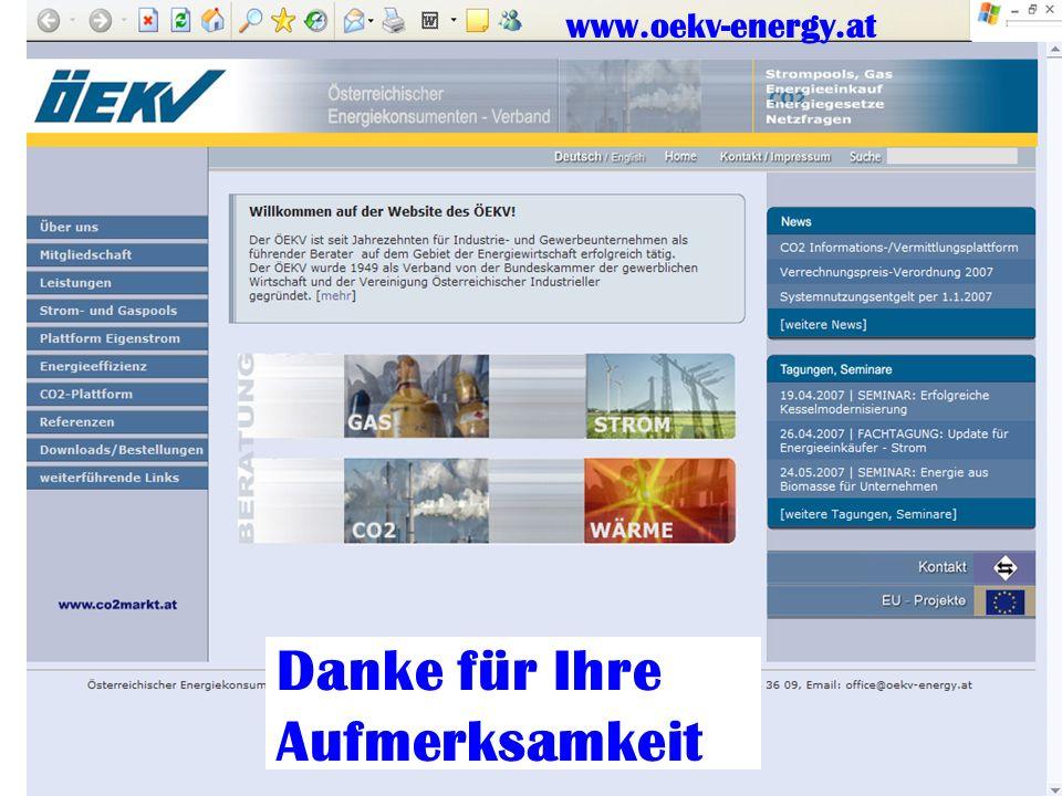 Dr. Urban; Tipps und Tricks 16 Danke für Ihre Aufmerksamkeit www.oekv-energy.at