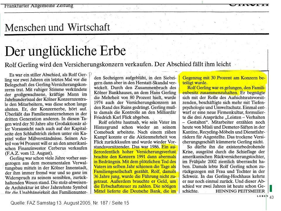 HDI Broker Special 43 Quelle: FAZ Samstag 13. August 2005, Nr. 187 / Seite 15