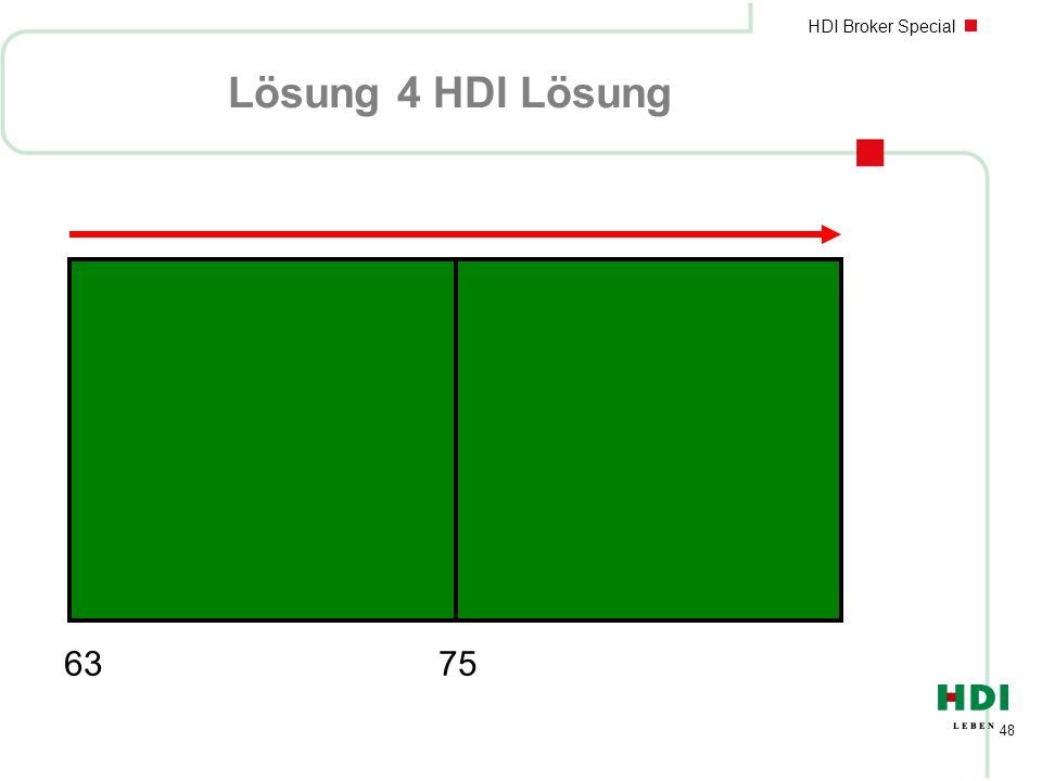 HDI Broker Special 48 Lösung 4 HDI Lösung 63 75