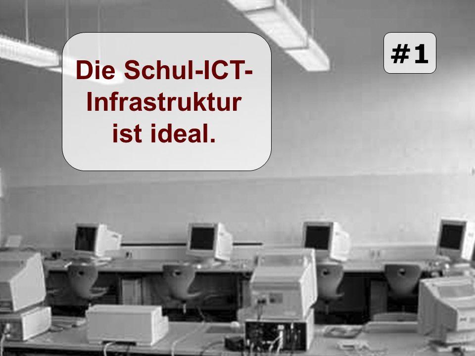 Die Schul-ICT- Infrastruktur ist ideal. #1