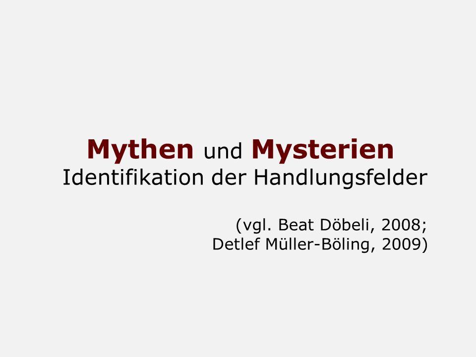 Mythen und Mysterien Identifikation der Handlungsfelder (vgl. Beat Döbeli, 2008; Detlef Müller-Böling, 2009)