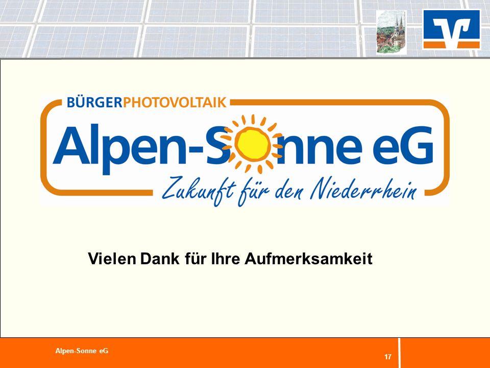 17 Alpen-Sonne eG Vielen Dank für Ihre Aufmerksamkeit