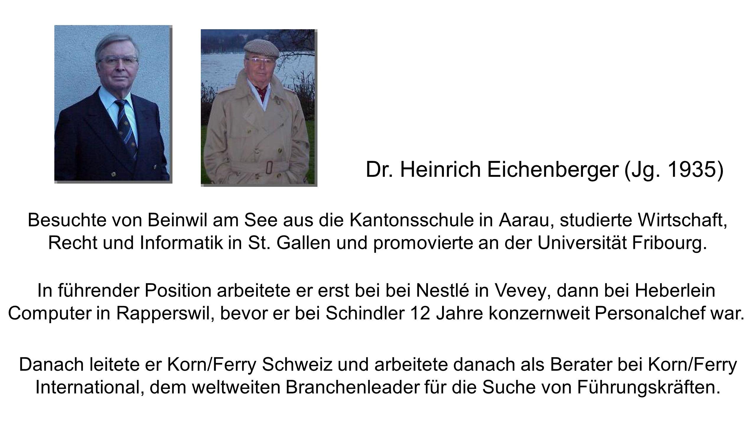 Dr.Heinrich Eichenberger (Jg.
