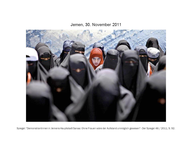 Jemen, 30. November 2011 Spiegel: