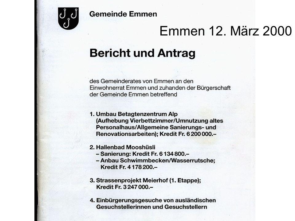 Emmen 12. März 2000