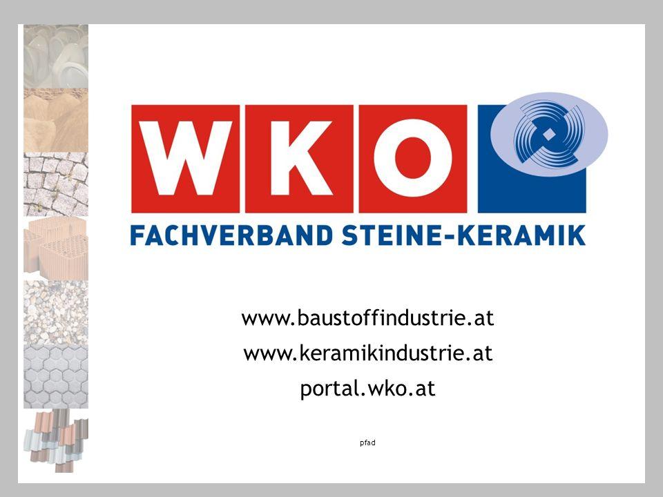 www.baustoffindustrie.at www.keramikindustrie.at portal.wko.at pfad