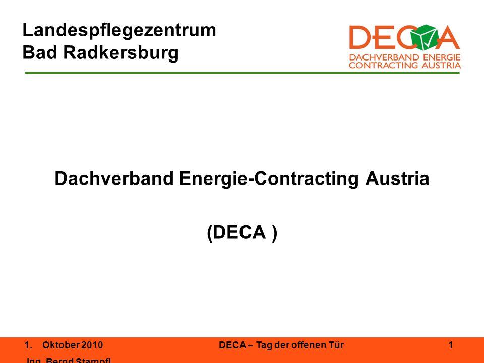 1.Oktober 2010DECA – Tag der offenen Tür 2 Ing.