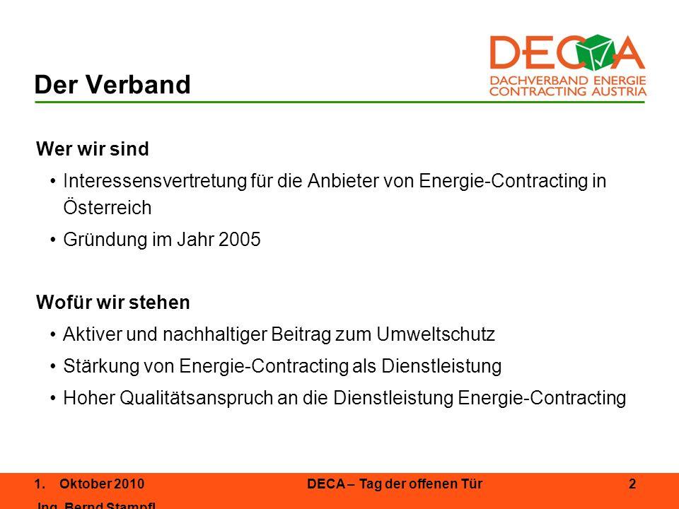1.Oktober 2010DECA – Tag der offenen Tür 3 Ing.