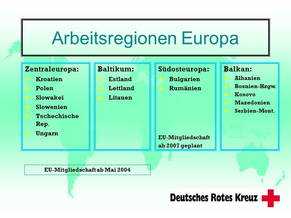 Arbeitsregionen Europa Zentraleuropa: u Kroatien u Polen u Slowakei u Slowenien u Tschechische Rep. u Ungarn Baltikum: u Estland u Lettland u Litauen