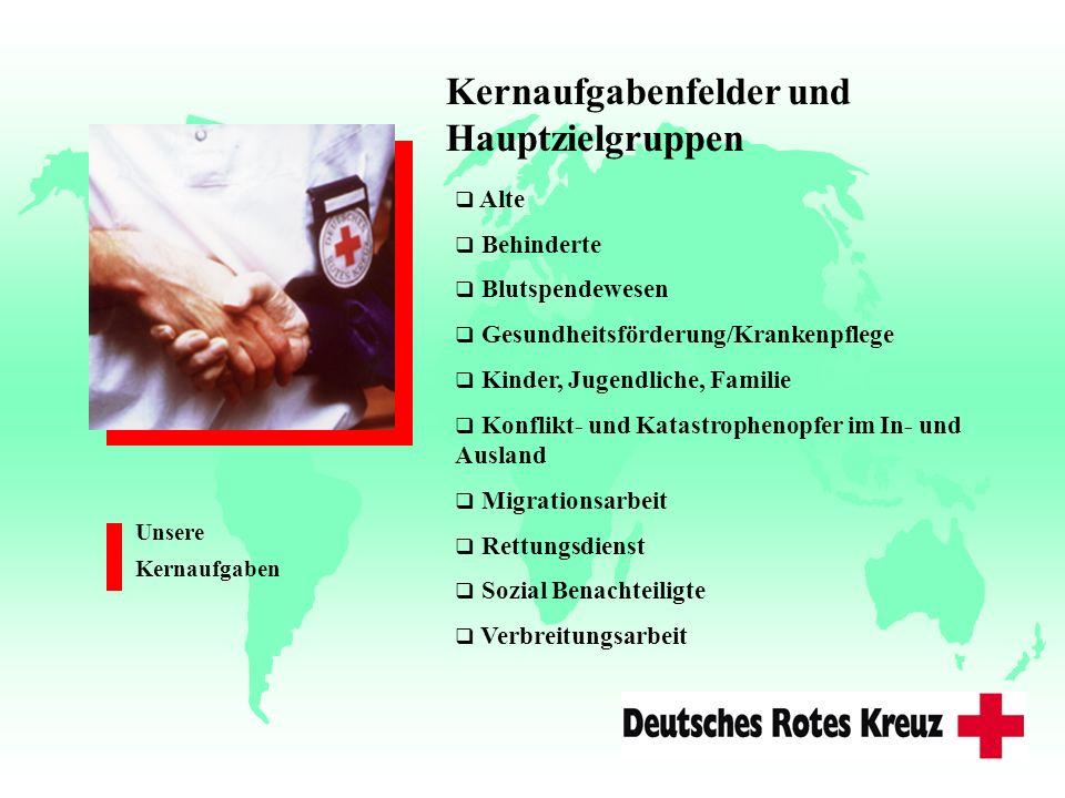 Alte Behinderte Blutspendewesen Gesundheitsförderung/Krankenpflege Kinder, Jugendliche, Familie Konflikt- und Katastrophenopfer im In- und Ausland Mig