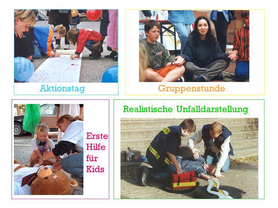 Aktionstag Realistische Unfalldarstellung Gruppenstunde Erste Hilfe für Kids
