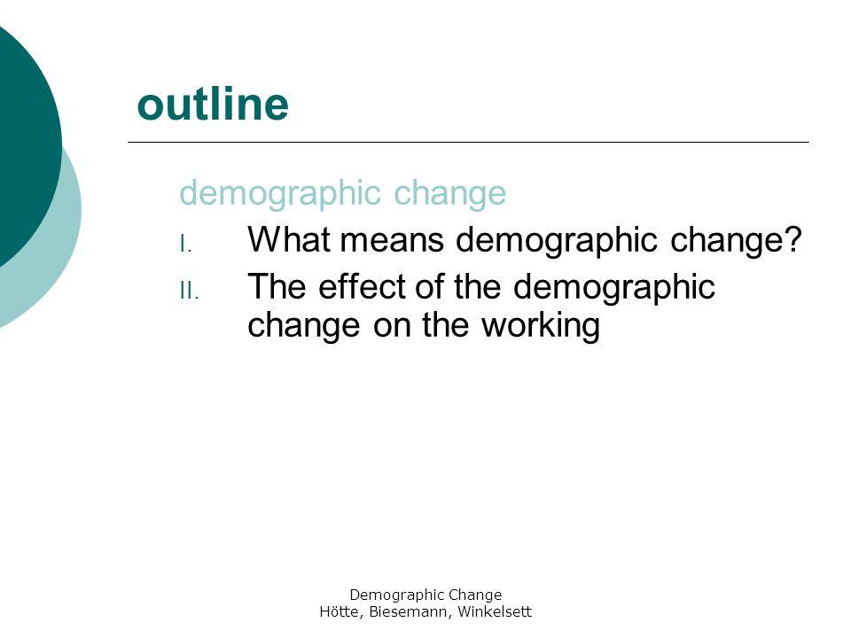 Demographic Change Hötte, Biesemann, Winkelsett references Internet http://www.bpb.de/wissen/LQVVE6.html, 03.01.2008 http://www.destatis.de/jetspeed/portal/cms/Sites/destatis/Internet/D E/Content/Statistiken/Bevoelkerung/GeburtenSterbefaelle/Tabellen /Content50/GeburtenZiffer,templateld=renderPrint.psml, 19.04.2008 http://www.destatis.de/jetspeed/portal/cms/Sites/destatis/Internet/D E/Presse/pm/2007/08/PD07__336__12621.psml, 17.05.2008 http://www.foerderland.de/1066.0.html, 07.04.2008 http://www.stala.sachsen- anhalt.de/Definitionen/W/Wanderungssaldo.html, 17.05.2008