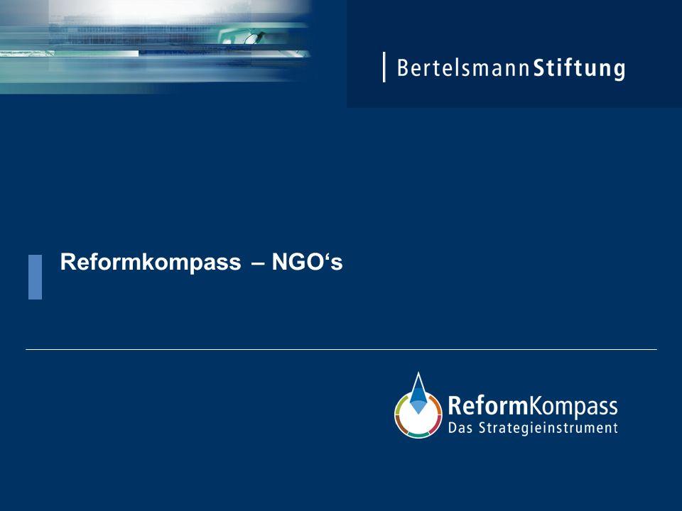 Eckpunkte Der Reformkompass: Der Reformkompass nimmt Strukturen und Prozesse in den Blick, systematisiert zentrale Ziele und Aufgaben und liefert so einen Orientierungsrahmen für strategisches Handeln.